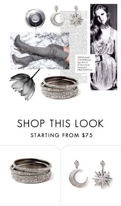 """Grey Glamour"" by amritasinghjewelry ❤ liked on Polyvore featuring Amrita Singh"