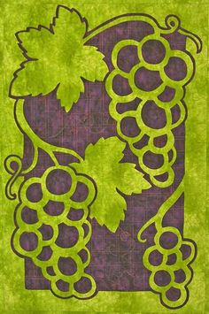 Grapes - 2 Fabric Applique Quilt
