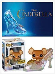 Funko Pop! Cinderella Hot Topic EXCLUSIVE Gus Gus GLITTERED SHIPS TODAY 100%  #FUNKO