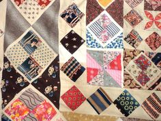 Tennants Auctioneers: Mid 19th Century Patchwork Coverlet of 'Mosaic' Design