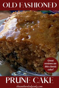 This Old Fashioned Prune Cake is wonderful. If you don't like prunes you will still love this cake. This prune cake is always a hit Cupcake Recipes, Cupcake Cakes, Dessert Recipes, Shoe Cakes, Cupcakes, Prune Cake, Prune Recipes, Muffins, Classic Cake