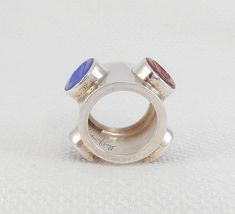 RARE Harlene Korey Kalibre Etched Roman Warriors Ring Kalibre Etched Centurions Stone Ring Korey Modernist Roman Heads Ring Gift for Her
