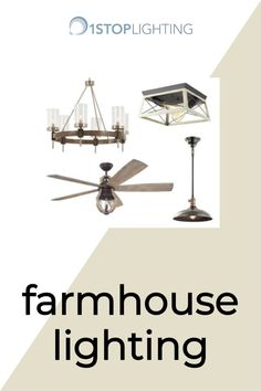 Add modern farmhouse inspired lighting fixtures to your home that match your style and budget! Modern Farmhouse Lighting, Rustic Farmhouse, Inspired Lighting, Ceiling Fan, Living Spaces, Budget, Lights, Style, Swag