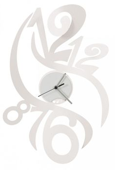 Zegar ścienny FENICE Biały - Arti&Mestieri - DECO Salon #clock #wallclock #giftidea
