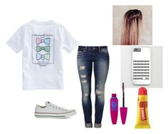 """""""HAHAHAHAHA.....NO"""" by red01 ❤ liked on Polyvore featuring Vineyard Vines, Mavi, Converse, Maybelline and Carmex"""