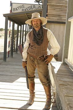 Steve Zahn as Gus McCrae in Comanche Western Film, Western Movies, Western Wear, Cowboy Girl, Cowboy Up, Western Cowboy, Western Costumes, Western Outfits, Wild West Costumes