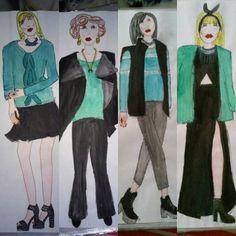 #green #black #hairbow #jewellery #fashion #moda #mode #style #stylist #design #designer #fashiondesign #fashiondesigner #illustration #fashionillustration #paint #painting #draw #drawing