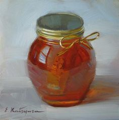 """A Jar of Honey"" - Original Fine Art for Sale - © Elena Katsyura"