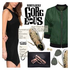 """Yoins 27:Army Green"" by pokadoll ❤ liked on Polyvore featuring Ray-Ban, Michael Kors and yoins"