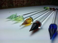 Check out this item in my Etsy shop https://www.etsy.com/listing/230539124/glass-dipping-pens-venetian-style