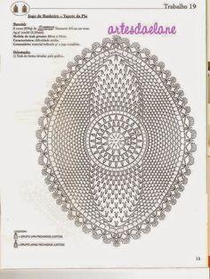 Artesanato com amor...by Lu Guimarães: Centros de Mesa em crochê