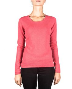 Damen Kaschmir Pullover Rundhals virtual pink front Elegant, Tops, Sweaters, Pink, Fashion, Cashmere Sweaters, Women's, Classy, Moda