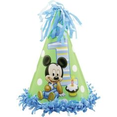 Mickey Mouse 1st Birthday Party Hat - Party City