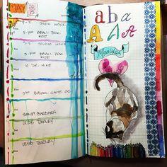 No excuses art journal meets midori travel notebook #noexcusesart #midori#artjournaling