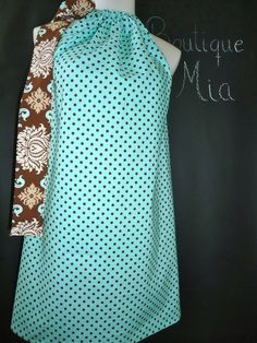 Pillowcase DRESS or TOP Michael Miller Polka by BoutiqueMiaByCXV