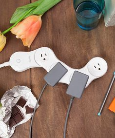 Look at this White Pivot Power Junior 2.0 Power Strip on #zulily today!