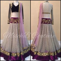 Lehenga by MischB Couture, indian fashion, desi style, desi couture