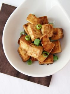 Easy Baked Tofu -- I always use extra firm, as it's the only texture of tofu I can eat while loving, softer is just weird to me, but I love this recipe!