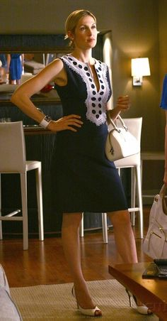 Lily van der Woodsen - this Navy & White number is fabulous!