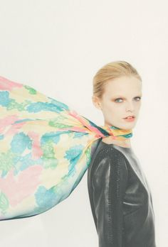 Hanne-Gaby Odiele for Valentino Silk Collection S/S 2013