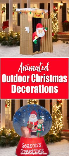 Are you looking for some cool Animated Outdoor Christmas Decorations? You'll find a GREAT selection of animated Christmas decorations for outside Holiday! Animated Christmas Decorations, Outside Christmas Decorations, Holiday Decor, Christmas Bulbs, Christmas Crafts, Christmas Inflatables, Christmas Characters, Cool Animations, Comfy