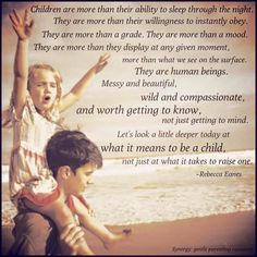 Wisdom from Rebecca Eanes of Positive Parenting: Toddlers and Beyond.
