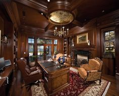 dark library office - Google Search
