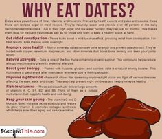 Cooking Tips Podcasts   Why Eat Dates from RecipeThis.com