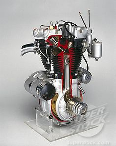 triumph motorcycle engines   ... Photo #1895-12721, Triumph ´Speed Twin´ motorcycle engine, 1950