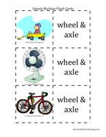 Simple Machines Flash Cards -Simple Machines Flash Cards Word List: identify examples of levers, wheel & axles, wedges, pulleys, inclined planes, and screws