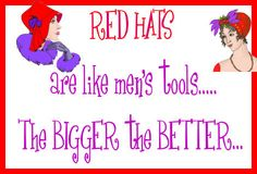 the bigger the better. Mad Hatter Tea, Mad Hatters, Red Hat Club, Dolly Doll, Red Hat Ladies, Wearing Purple, Red Hat Society, Purple Things, Cool Hats