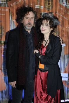 Helena Bonham Carter and Tim Burton :D helena is so ahmazing <3 I love her dress and hair and veil and bow and stuff! :DD