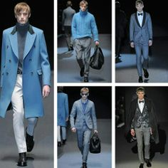 Gucci Fall 2013 Menswear collection Blues, Knitwear and when all else fails Black!
