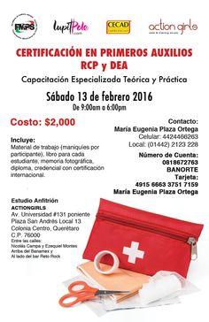 Porque es nuestro deber como ciudadanos, aprendamos a salvar una vida. Te esperamos en Querétaro en la Certificación de Primeros Auxilios, RCP & DEA.