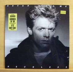BRYAN ADAMS Reckless Vinyl LP Summer of 69 Heaven It s only Love Run to you RARE