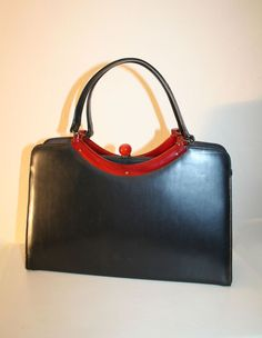Garay 50's Vintage Handbag with Lucite Knob and Frame