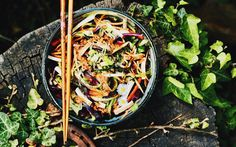 <p>Who says eating raw is hard? This takes half the time than the cooked version. Get lazy and eat some nutrient-dense food like this (mostly) raw pad thai. </p>