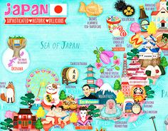 """Check out new work on my @Behance portfolio: """"Japan Map Illustration"""" http://be.net/gallery/31428863/Japan-Map-Illustration"""