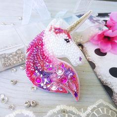 Unicorn Brooch, Pink Brooch, Beaded Brooch, Laser Cut Unicorn, Acrylic Brooch, Unicorn, Gift for Favorite, Plexiglas, Handmade Jewellery, $29.50 #broochesdiybeaded