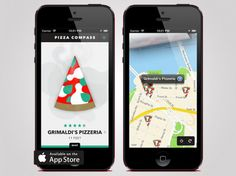 Pizza Compass App locates the nearest Pizza Joint