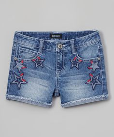 Look at this #zulilyfind! Squeeze Medium Stone Star Shorts by Squeeze #zulilyfinds