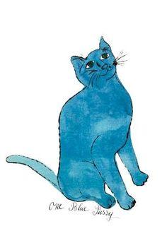 "Andy Warhol - Cat From ""25 Cats Named Sam and One Blue Pussy"", c. 1954  (One Blue Pussy) - Kunstdruck Poster günstig kaufen - auch auf Rechnung!"
