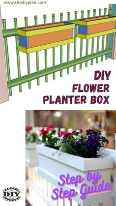 If you're limited on space or don't want to dig up your yard to put in plants, planter boxes could be a good option. You could use the planter to grow flowers to beautify your backyard or you can use it to grow herbs. I've created a simple tutorial on how to build this planter container. #diy #freeplans #projects #homedecor #interior #furniture #woodproject #gardening #doityourself #homeimprovement #planterbox #homegarden Window Planters, Flower Planters, Diy Planters, Planter Boxes, Outdoor Projects, Garden Projects, Diy Projects, Garden Ideas, Growing Herbs
