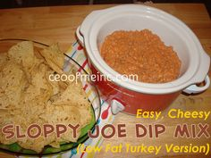 Easy, Cheese Sloppy Joe Dip Mix Recipe (Low Fat Turkey Version) Great for Superbowl Parties! #recipes #recipe http://ceoofmeinc.com/2013/01/08/easy-cheesy-sloppy-joe-dip-recipe-low-fat-turkey-version/