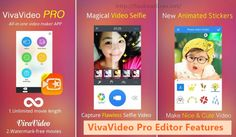 The vivavideo pro is already available in the Google play store for free; through vivavideo pro apk download you can get the paid version's feature for free.