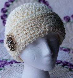 Krissys Wonders   Ladies Fancy Chemo Cap Made with 5 Weight Yarn. Krissys  Over The Mountain Crochet ... f2b5b250d64a