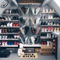 Ideas For Sneakers Collection Storage Dream Closets Sneaker Storage, Shoe Storage, Storage Ideas, Shoe Shelves, Sneaker Rack, Shoe Racks, Hypebeast Room, Shoe Room, Shoe Display