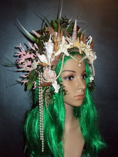 Sea Witch / Siren Goddess Mermaid  Headdress with by Sarieka, $375.00