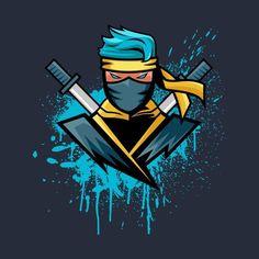 Design Discover Gamer Blue Ninja NinjasHyper Kids Sweatshirt Gamer Blue Ninja NinjasHyper Kids Sweatshirt by TrapMonkie - Cloud City 7 Wallpaper Gamer, Ninja Wallpaper, Gaming Wallpapers, Team Logo Design, Logo Desing, Logo D'art, Ninja Logo, Mobile Logo, Professional Logo Design