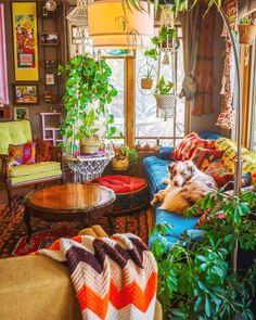 Calling all hippies! Regardless of whether you're fixated on layering materials or basically into the cost-adequacy of purchasing vintage, bohemianism — the flighty, aesthetic way of life that dates the whole distance back to the — can turn int Boho Home, Bohemian House, Bohemian Interior, Bohemian Decor, Bohemian Style, Bohemian Lifestyle, Hippie House Decor, Boho Chic, Bohemian Living